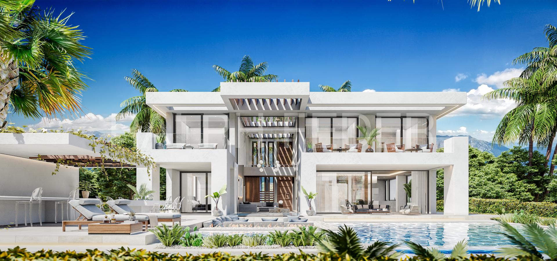 Frontal villa