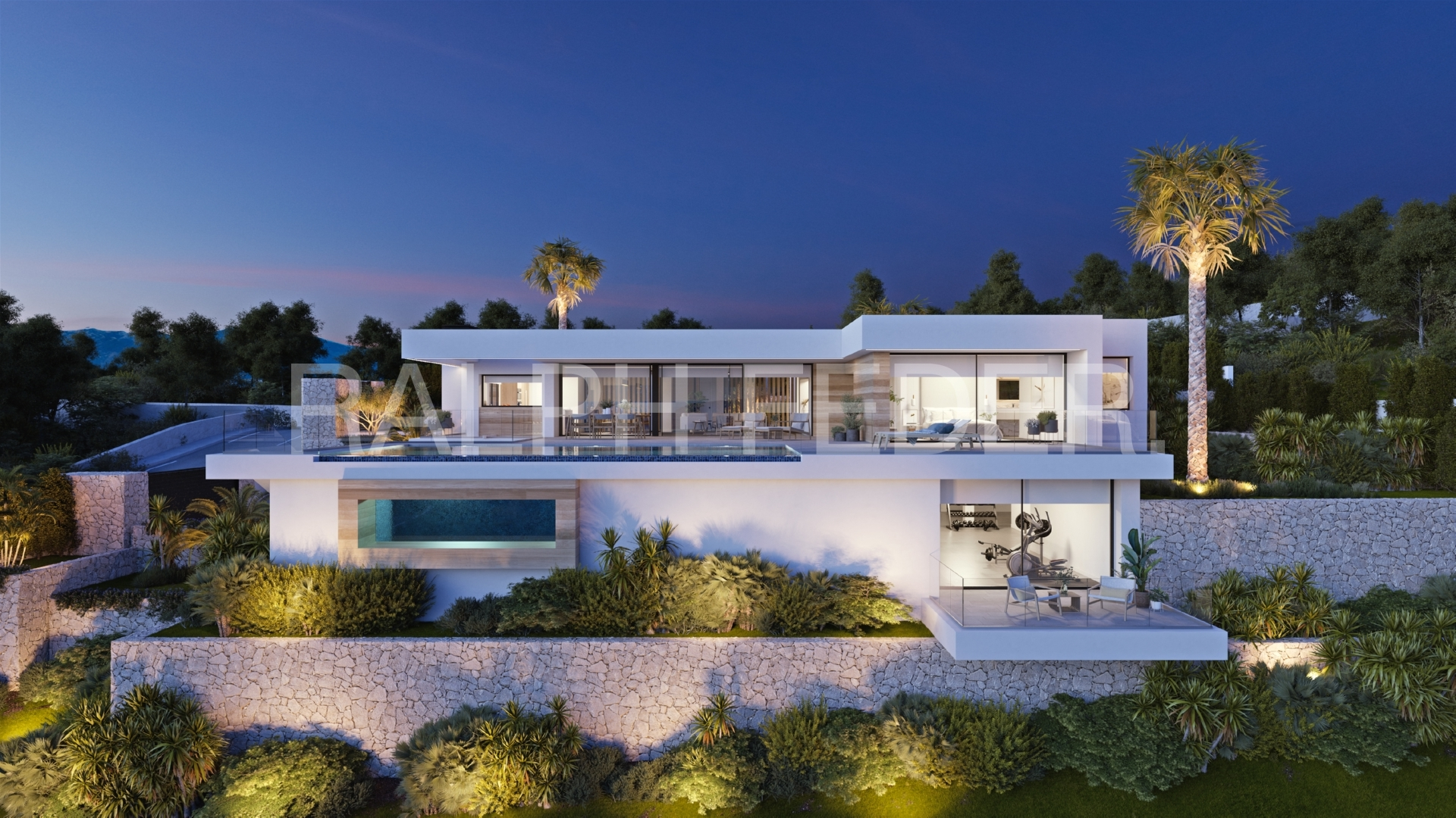 Vista nocturna exclusive project villa